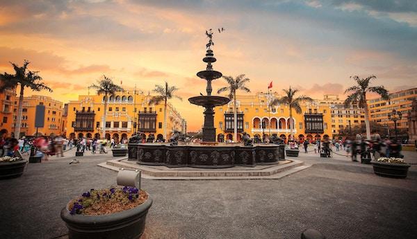 Det gamle sentrum i Lima har mange flotte attraksjoner og monumenter.