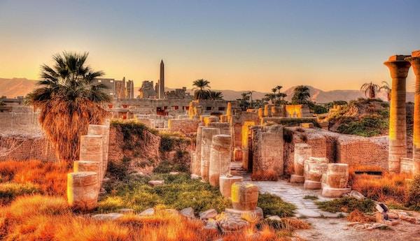Karnaktempelet i Egypt.