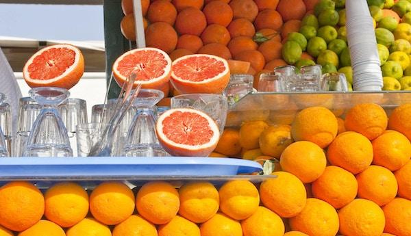 Fruktmarked i Marokko.