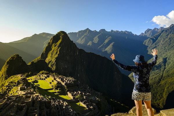 Spektakulær utsikt fra toppen av Machu Picchu