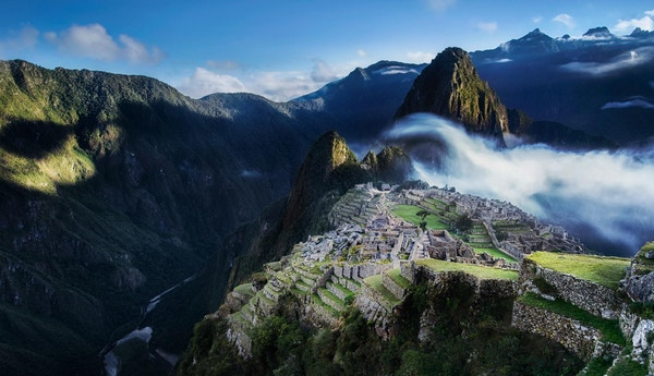 Soloppgang over Machu Picchu