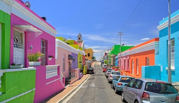 Det er opplevelse å spasere rundt i Bo'kaap Township i Cape Town.