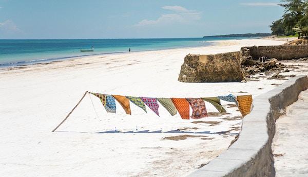 Vakker utsikt på Diani Beach, Kenya.