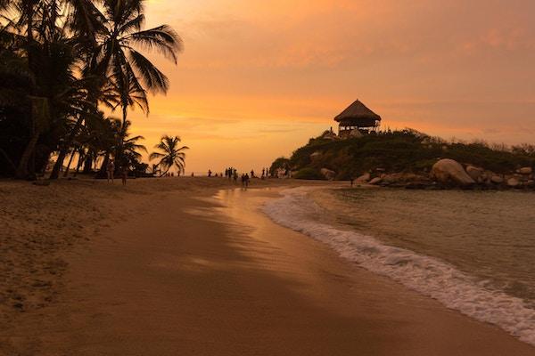 Santa Marta, Colombia - 8. juli 2017: Sunset Cabo San Juan