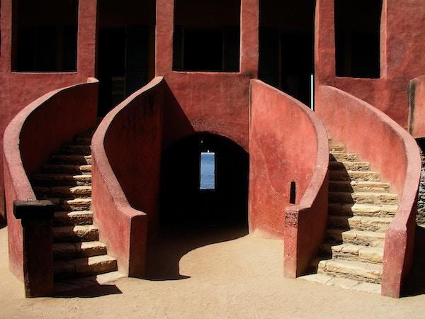 Slavehuset på Gorée nær Dakar står på UNESCOs verdensarvliste.