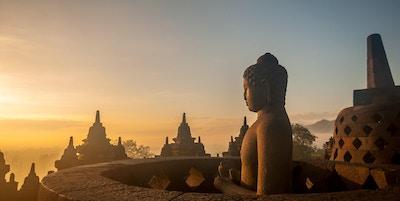 Borobodur-tempelet i Yogakarta, Indonesia.