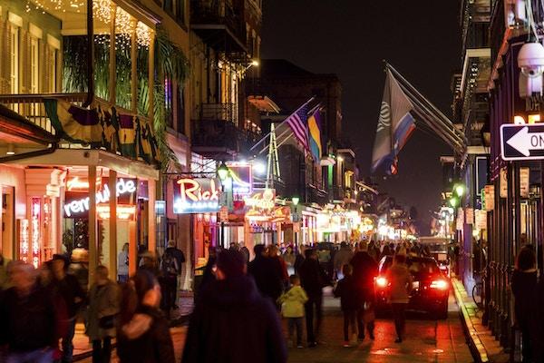 Bourbon Street Crowd, New Orleans