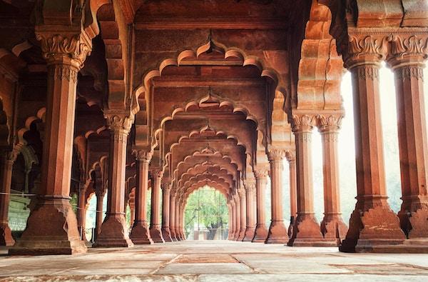 Diwan-i-Am (Hall of Audience) i det Røde Fortet i New Delhi, India