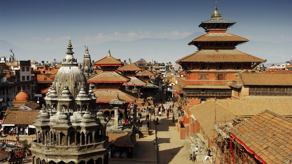 Den gamle by i Kathmandu, Nepal