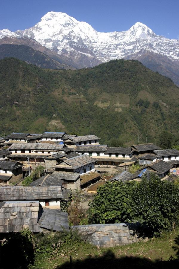 Fjellandby i Nepal