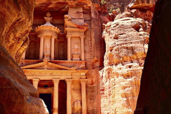 Treasury Temple at Petra (Al Khazneh), Jordan
