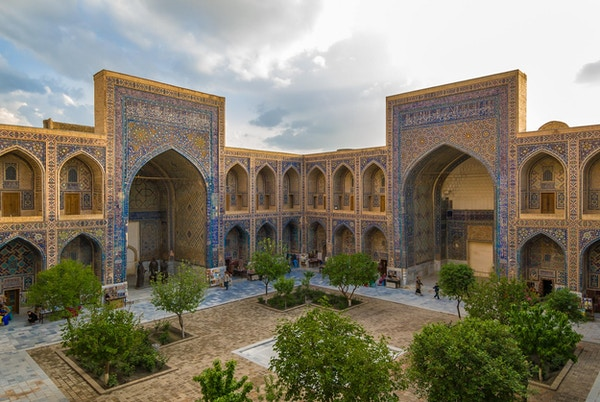 Ulugh Beg Madrasah, Registan, Samarkand i Usbekistan