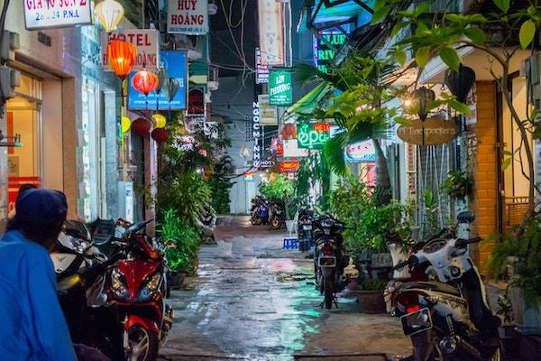 Vietnam Ho Chi Minh-byen Bui Vien Street.