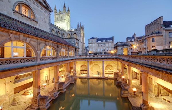 Gamle romerske bad i England.