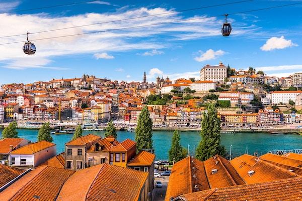 Porto, Portugal gamleby ved elven Douro.