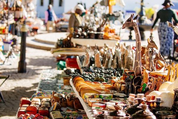 Et Sør-Afrikansk marked utendørs.
