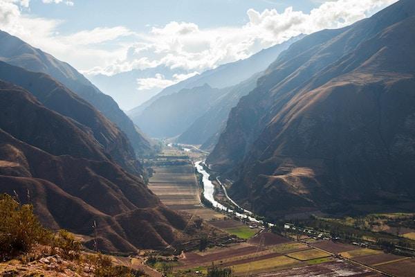 Den hellige dalen i Peru, med utsikt over byen Urubamba.