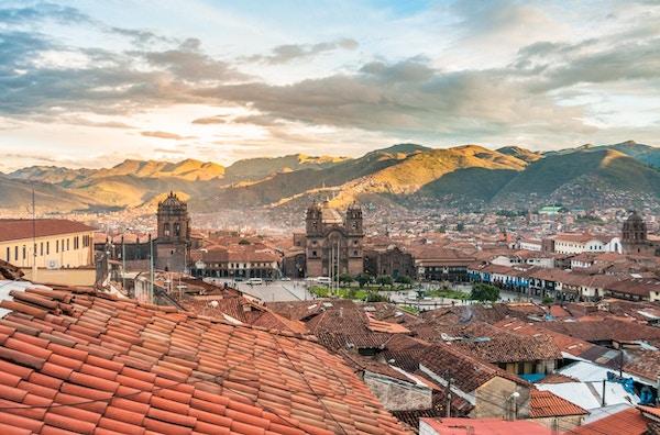 En utsikt over cuzco, høyt i de peruanske Andesfjellene
