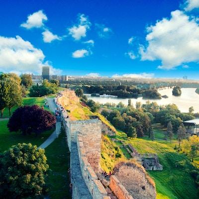 Utsikt over New Belgrade fra Kalemegdan