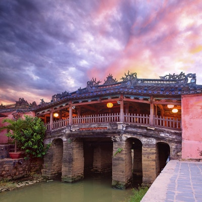 Japansk bro i Hoi An. Vietnam