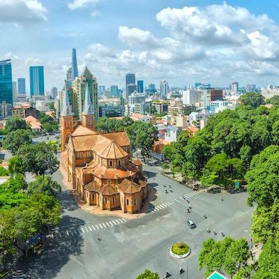 Ho Chi Minh på en solskinnsdag.