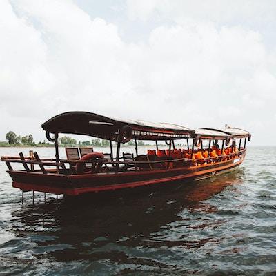 Sampaner som brukes på utfluktene på Mekong