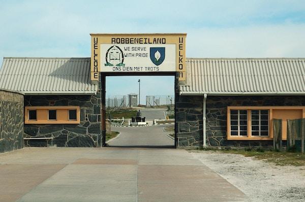 Nelson Mandela ble fengslet på Robben Island i 18 år.