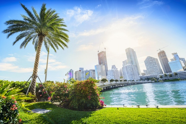 Sunshine Miami. Ligger i Miami sentrum, Florida, USA.
