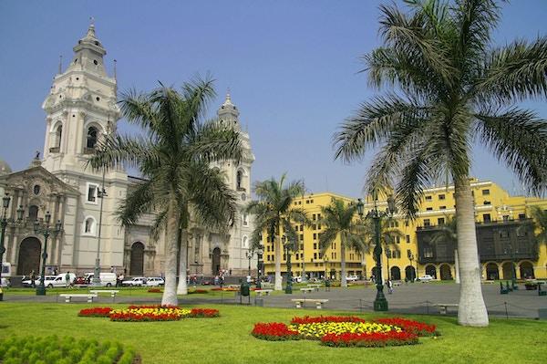 Mange flotte bygninger i Lima.
