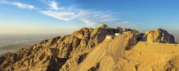 Hotell på toppen av fjellet Jabel Hafeet i UAE