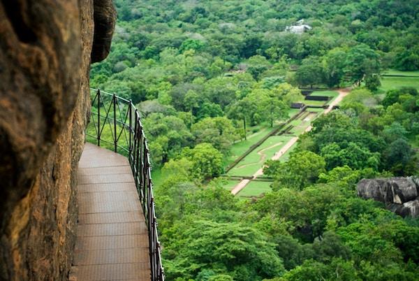 Klippefortet Sigiriya på Sri Lanka
