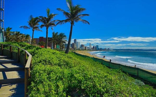 Strand i Durban.