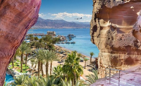 Eilat er et rolig sted som er et veldig populært tropisk tilfluktssted for israelske og europeiske turister.