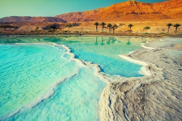 Dødehavets saltstrand