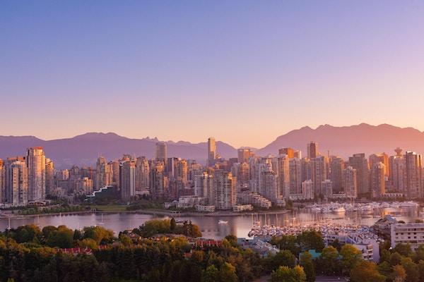 Vancouver tidlig på morgenen