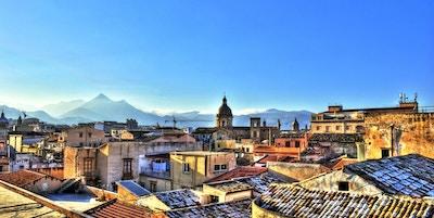 Utsikt over Palermo med tak i høyt dynamisk område. Sicilia- Italia
