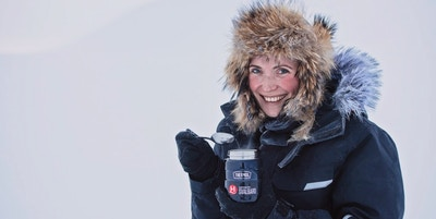 Jente på Svalbard