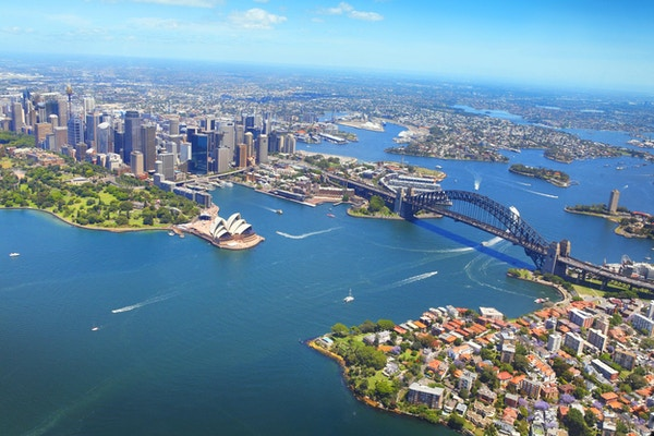 Luftfoto over Sydney, Australia