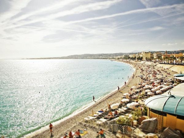 Herlige strender i Nice