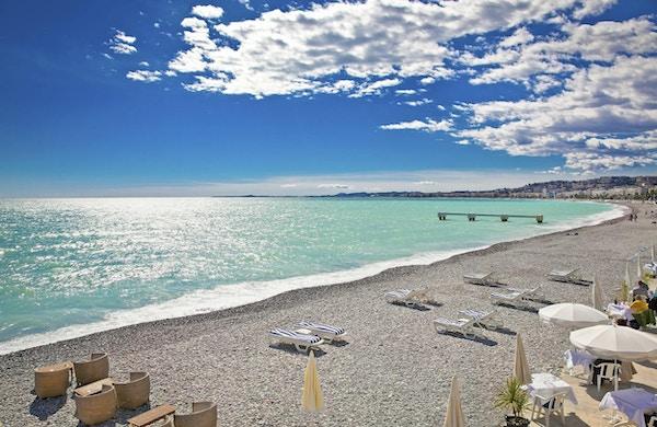 Langstrakt strand