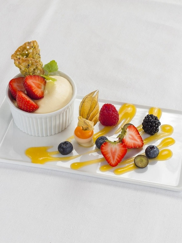 Smakfull dessert på Grønolen Fjellgard