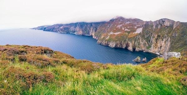 Slieve League, klipper ved Atlanterhavskysten i County Donegal, Irland