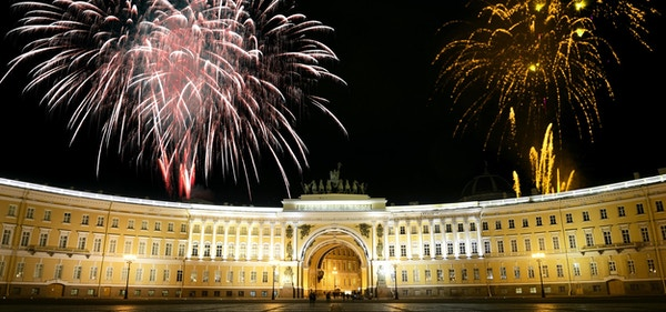 Fyrverkeri i St. Petersburg