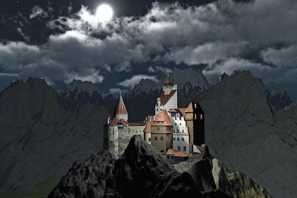 Dracula's Castle, Bran Castle ligger i nærheten av Bran og i umiddelbar nærhet av Brasov. Transylvania. Romania