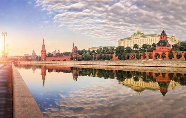 Enden på en arbeidsdag i Kreml, Moskva