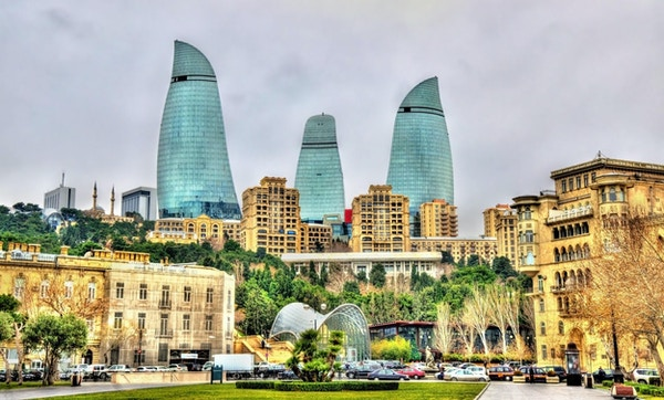 Utsikt over sentrum av Baku - Aserbajdsjan
