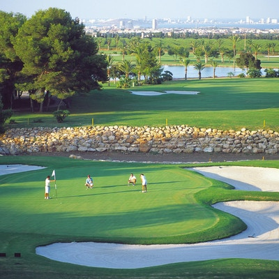 Golfbane med spillere