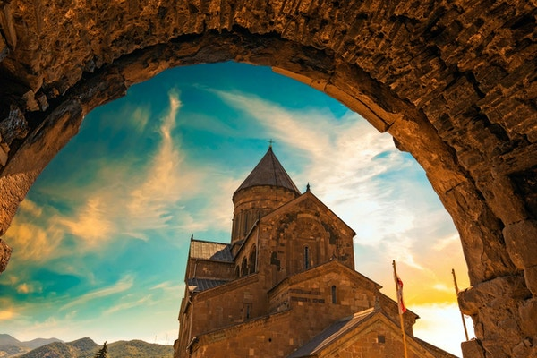 Svetitskhoveli-katedralen (1000-tallet) i Mtskheta, nær Tbilisi