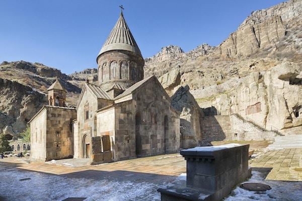 Klosteret Geghard er en bygning fra 4. århundre i Kotayk-provinsen Armenia.