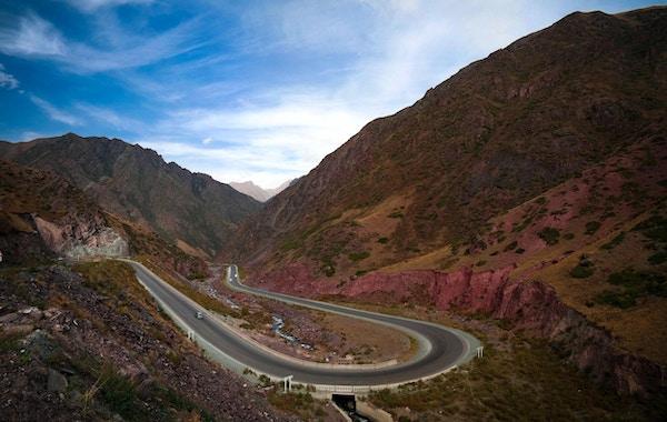 Too Ashuu-passet i Kirgisistan.